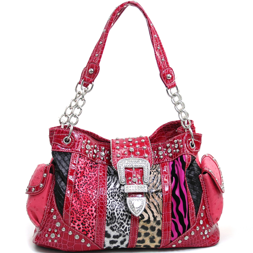 Zebra Print Over The Shoulder Bags 47