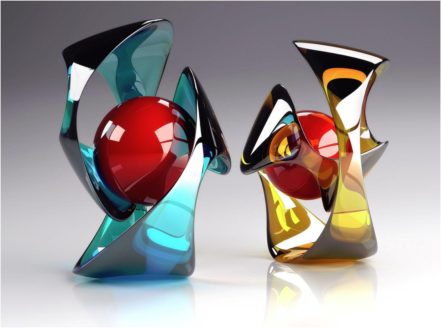 Modern Art Glass Sculpture