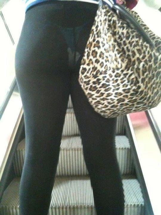 Caught this while riding the elevator the other day. I can see her ...