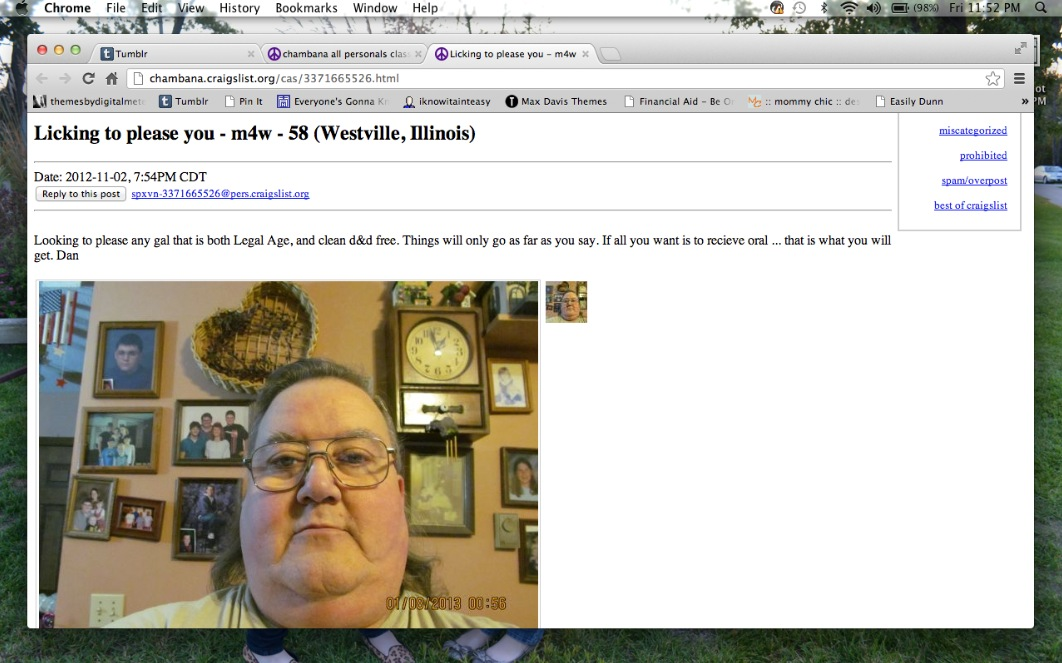 Craigslist ads for dating