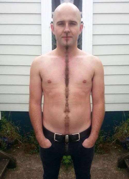 Happy Trails Divider How To Trim Your Beard Mustache Chest Hair in Straight Line