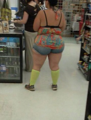 Opinion Amature female in booty shorts at wal mart agree, useful