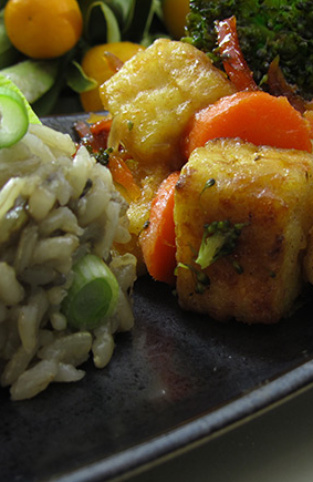 Gluten-Free Vegan Orange Tofu, Kung Hei Fat Choy - Recipe