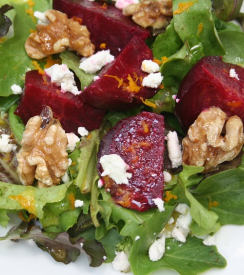 Beet Salad with Feta or Goat Cheese - Recipe