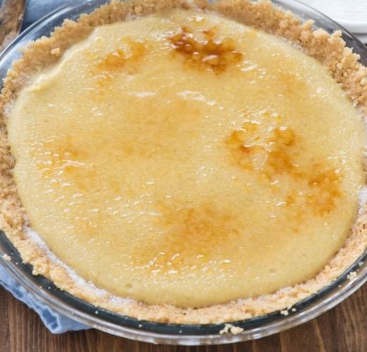 No Bake Creme Brulee Pie - Recipe
