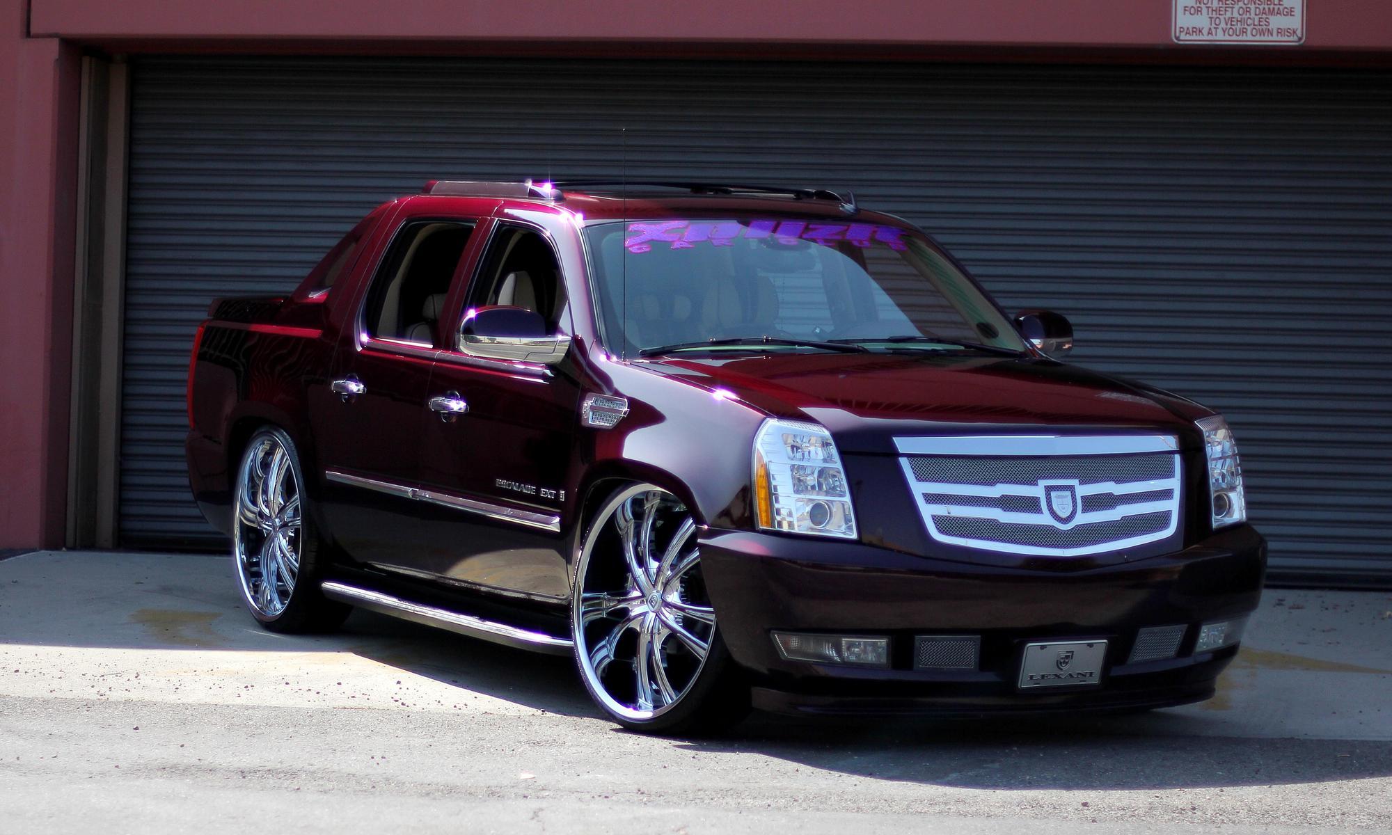 Custom Red Cadillac Escalade Wallpaper Autos Faxo