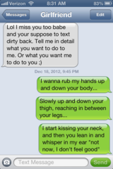 Dirty text messages