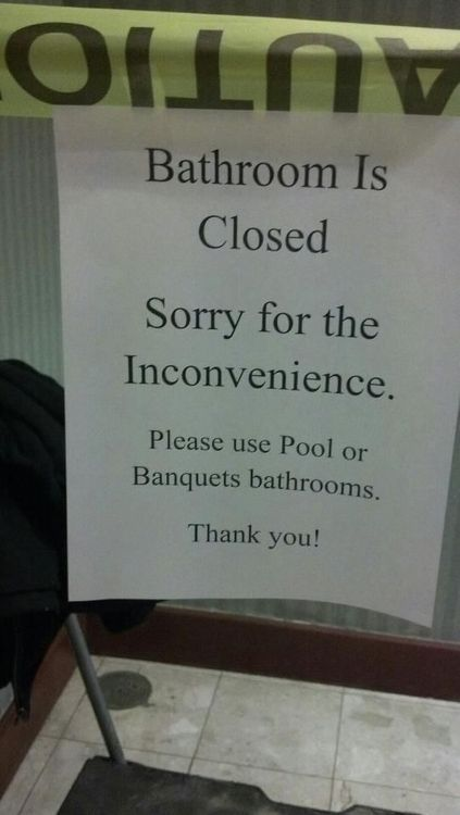 Cars For Less >> Bathroom Closed Pee in the Pool Sign - Funny - Faxo