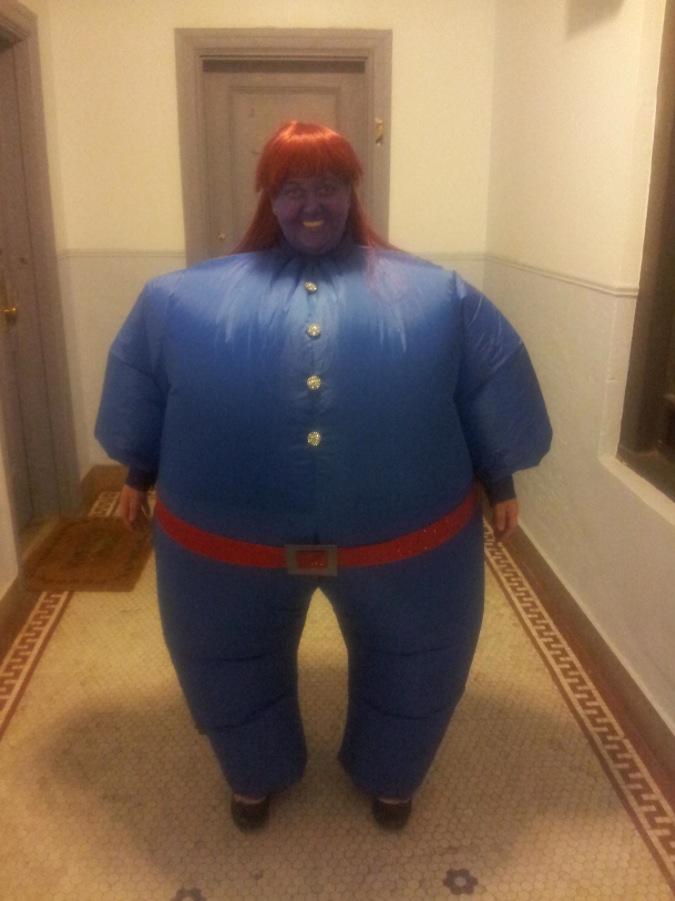 Big Round Blue Violet Beauregarde Willy Wonka Halloween