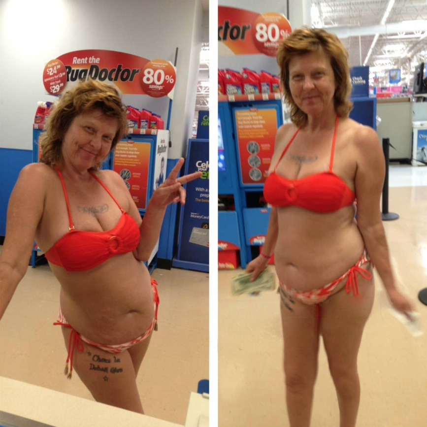Bikini At Walmart Somebody Call A Rug Doctor I Just Wet