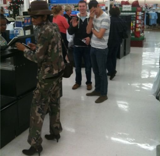 Camo Army Fatigues And High Heel Shoes At Walmart
