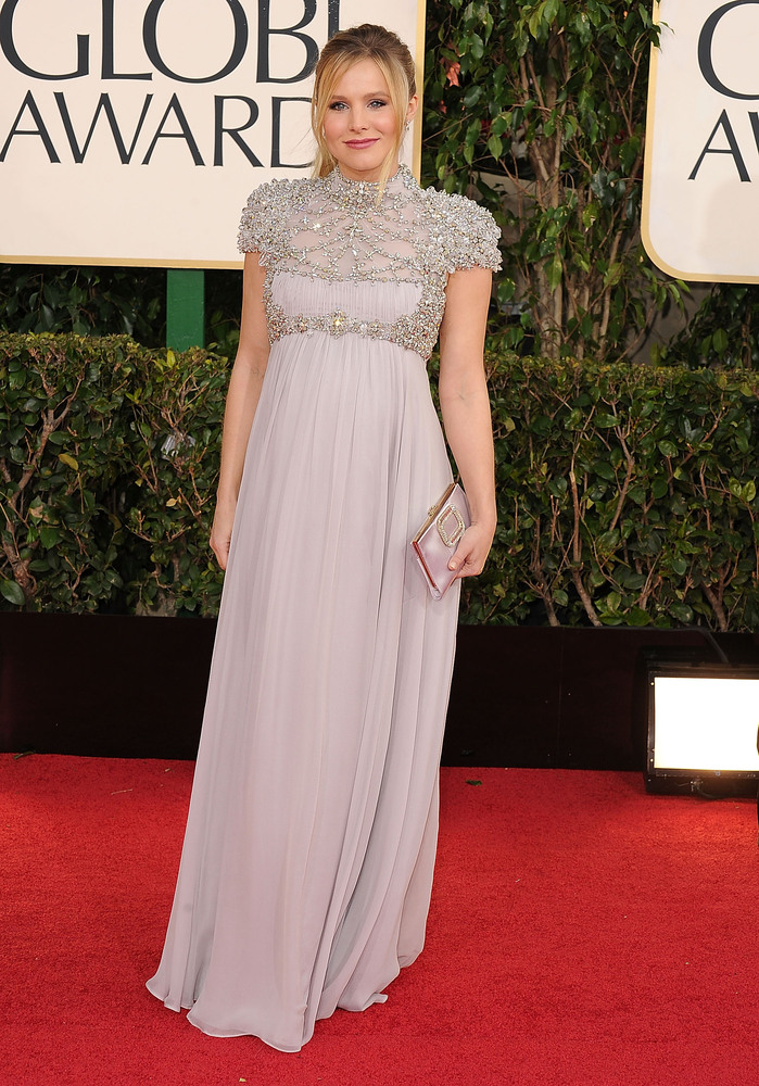 Best Hollywood Maternity Gowns: Kristen Bell - Fashion - Faxo