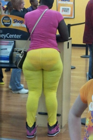 Tight Yellow Leggings and Underwear - Stay Classy People ...