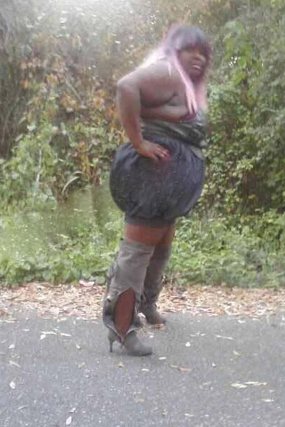 ugliest dress ever black garbage bag dress and high heel