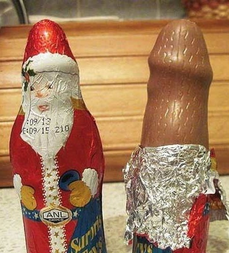 delicious dirty chocolate santa claus for christmas melts in your mouth funny faxo - Dirty Merry Christmas Pictures