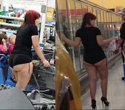 Mom Takes Kids to Walmart in Underwear Short Shorts - Pole ...