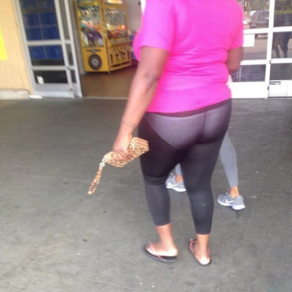 what not to wear white underwear and see through leggings