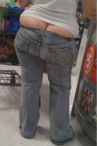 Double Stuffed Bubble Butt Too Tight Blue Jeans At Walmart Omg Fashion Fail Walmart Faxo