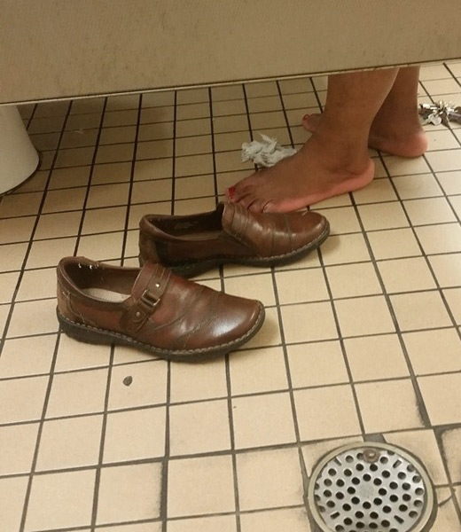 Barefoot In The Bathroom Stall Disgusting People Of