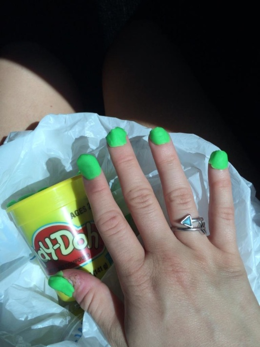 Cheap Neon Green Nail Polish From Walmart Fun With Play Doh Fail Walmart Faxo