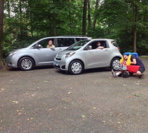 dad gets the best gas mileage smallest car ever. Black Bedroom Furniture Sets. Home Design Ideas