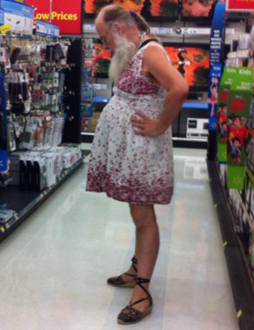 Grandpa Dresses Up for Shopping at Walmart - Walmart - Faxo