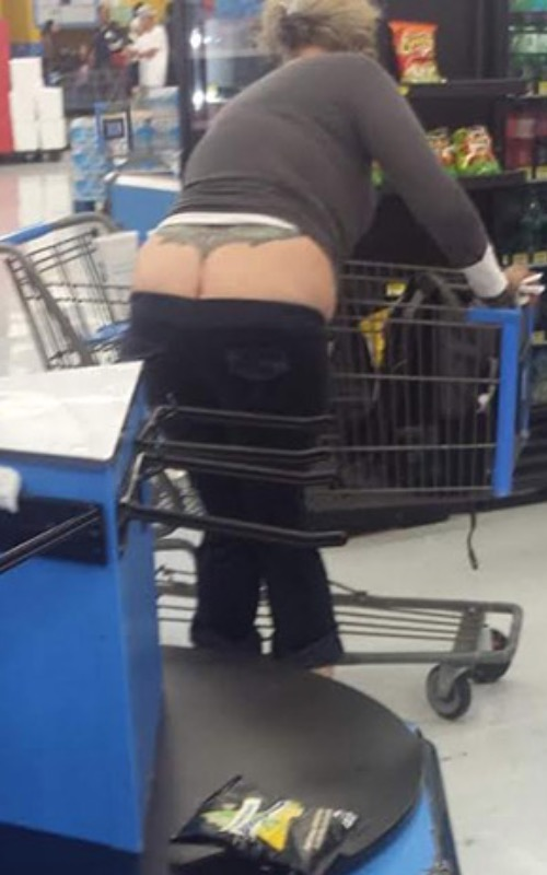 Classy Butt Crack Tattoo at Walmart
