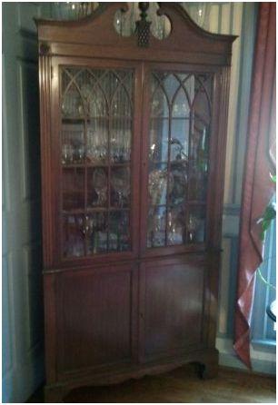 Charmant Beautiful Antique Glass Corner China Cabinet   Classified Ad   Washington,  DC   Faxo