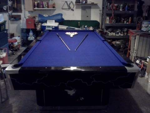 9ft Custom Painted Pool Table Classified Ad