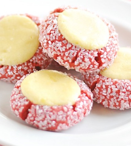 Red Velvet Cream Cheese Thumbprint Cookies Recipes Faxo